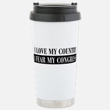 I Love My Country Stainless Steel Travel Mug