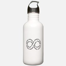 Infinity (text string) Water Bottle