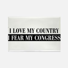 I Love My Country Rectangle Magnet