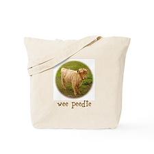 Wee Peedie (Highland Calf) Tote Bag
