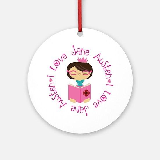 I Love Jane Austen Ornament (Round)