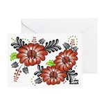 Petrykivka Flowers I Greeting Card
