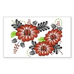 Petrykivka Flowers I Sticker (Rectangle)