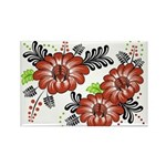 Petrykivka Flowers I Rectangle Magnet (10 pack)