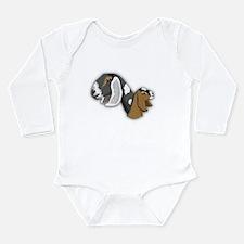 Nubian Goat Long Sleeve Infant Bodysuit