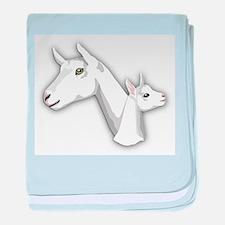 Saanen Goat baby blanket