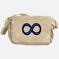 Blue Infinity Symbol Messenger Bag