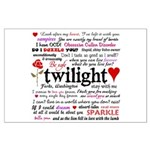 Twilight Quotes Large Poster