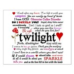 Twilight Quotes Small Poster
