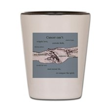 Cancer Can't - Blue Shot Glass