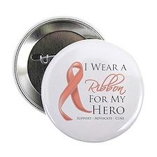 """Hero Uterine Cancer 2.25"""" Button"""