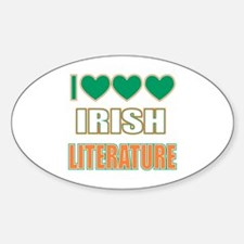 Irish Literature Sticker (Oval)