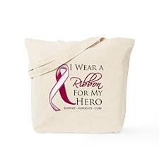 Hero Throat Cancer Tote Bag