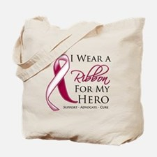 Hero Throat Cancer Tote Bag