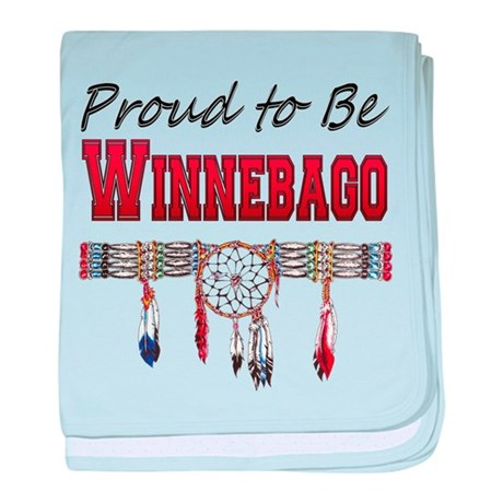 Proud to be Winnebago baby blanket