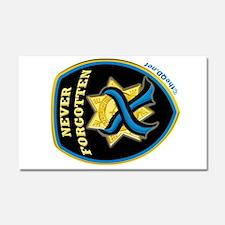 Thin Blue Line NeverForgotten Car Magnet 20 x 12