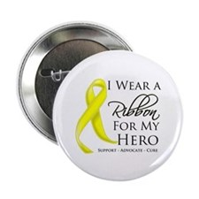 "Hero Ribbon Sarcoma 2.25"" Button"