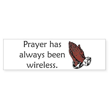Prayer Is Always Wireless Sticker (Bumper)