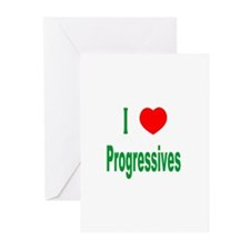 I Love (Heart) Progressives Greeting Cards (Packag
