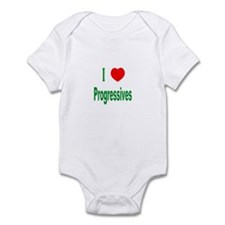 I Love (Heart) Progressives Infant Creeper