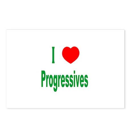I Love (Heart) Progressives Postcards (Package of
