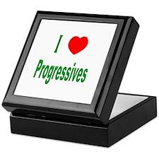 I Love (Heart) Progressives Keepsake Box