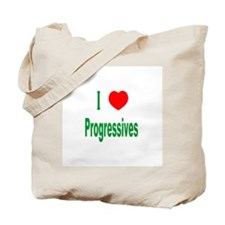 I Love (Heart) Progressives Tote Bag