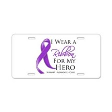 Hero Pancreatic Cancer Aluminum License Plate