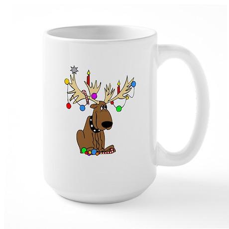 Reindeer Dog Large Mug