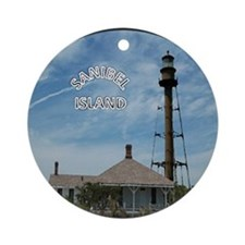 Sanibel Island round ornament