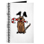 Dog with Candy Cane Journal