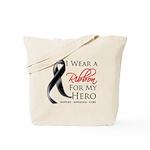 Hero Melanoma Ribbon Tote Bag