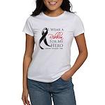 Hero Melanoma Ribbon Women's T-Shirt