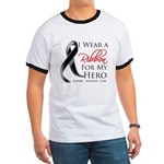 Hero Melanoma Ribbon Ringer T