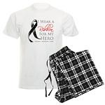 Hero Melanoma Ribbon Men's Light Pajamas