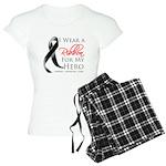 Hero Melanoma Ribbon Women's Light Pajamas