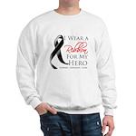 Hero Melanoma Ribbon Sweatshirt