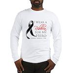 Hero Melanoma Ribbon Long Sleeve T-Shirt