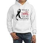 Hero Melanoma Ribbon Hooded Sweatshirt