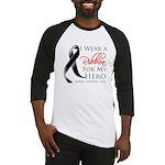 Hero Melanoma Ribbon Baseball Jersey