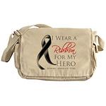 Hero Melanoma Ribbon Messenger Bag