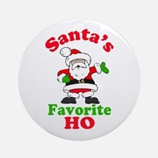 Santa's Favorite Ho Ornament (Round)