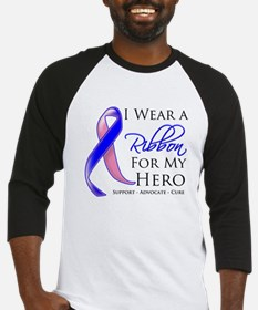 Hero Male Breast Cancer Baseball Jersey