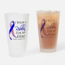 Hero Male Breast Cancer Drinking Glass