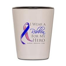 Hero Male Breast Cancer Shot Glass