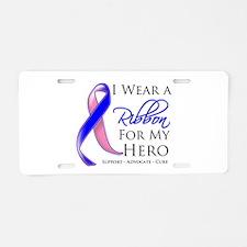 Hero Male Breast Cancer Aluminum License Plate