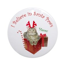 I Believe in Santa Paws Ornament (Round)