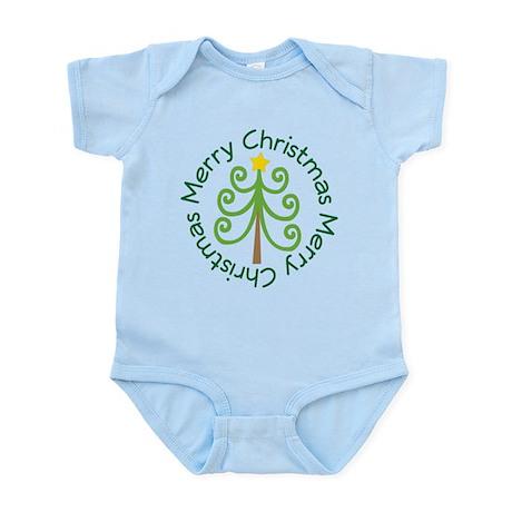 Merry Christmas Tree Infant Bodysuit