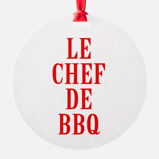 Le Chef De BBQ Ornament