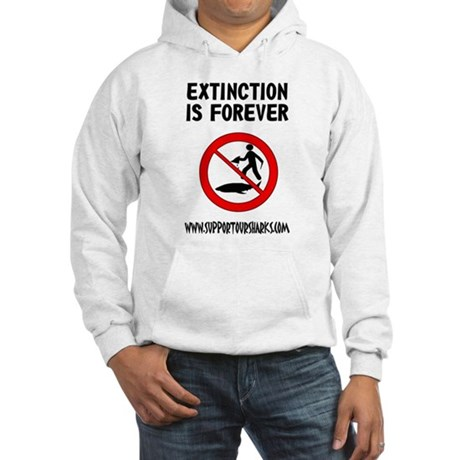 Extinction is forever Hooded Sweatshirt